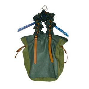 Holding Horses Leather Suede Tassel Bucket Bag